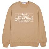 [센스스튜디오] LA MAISON MTM (BEIGE) 맨투맨 크루넥 스웨트셔츠