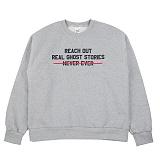 [네버에버] REACH OUT MTM (MELANGE) 기모 맨투맨 크루넥 스웨트셔츠