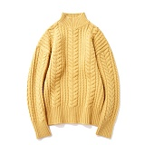 파르티멘토 - Heavy Lambswool Cable Knit Mustard 헤비니트