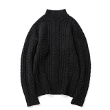 파르티멘토 - Heavy Lambswool Cable Knit Black 헤비니트