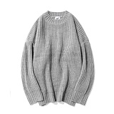 파르티멘토 - Over Crew Neck Knit Gray 니트