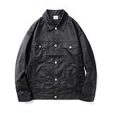 파르티멘토 - Coating Trucker Jacket Black 트러커자켓