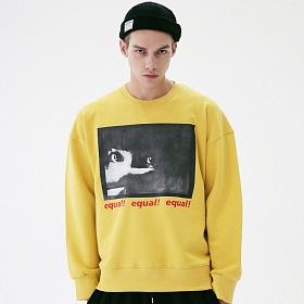 [매스노운]MASSNOUN 쓰렛 맨투맨 스��셔츠 MFVCR001-YL