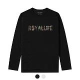 [로얄라이프] ROYALLIFE - RLL110 로얄라이프 카모로고 긴팔티 - 블랙/화이트