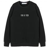 [센스스튜디오] VIVA LA VIDA MTM (BLACK) 기모 맨투맨 크루넥 스웨트셔츠