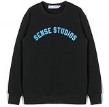 [센스스튜디오] SENSE ARCH LOGO MTM (BLACK) 기모 맨투맨 크루넥 스웨트셔츠