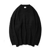 파르티멘토 - Over Crew Neck Knit Charcoal 니트