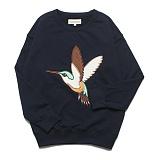 프랭크도미닉 - HUMMING BIRD OVERSIZE SWEAT(NAVY) 자수 맨투맨