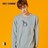 [루찌씬놈]Rucci Ssinnom - 맨투맨 SNM102 (2color) 강아지 자수 스��셔츠