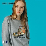 [루찌씬놈]Rucci Ssinnom - 맨투맨 SNM104 (3color) 자수 스��셔츠