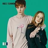 [루찌씬놈]Rucci Ssinnom - 맨투맨 SNM105 (3color) 플라밍고 홍학 자수 스��셔츠