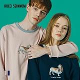 [루찌씬놈]Rucci Ssinnom - 맨투맨 SNM109 (2color) 닥스훈트 강아지 자수 스��셔츠