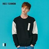 [루찌씬놈]Rucci Ssinnom - 맨투맨 SNM111 (2color) 투톤 스��셔츠