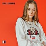 [루찌씬놈]Rucci Ssinnom - 맨투맨 SNM112 (2color) 불독 자수 스��셔츠