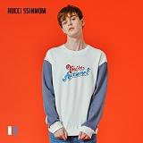 [루찌씬놈]Rucci Ssinnom - 맨투맨 SNM118 (2color) 투톤 자수 스��셔츠