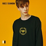 [루찌씬놈]Rucci Ssinnom - 맨투맨 SNM119 (2color) 파리 월계수 자수 스��셔츠