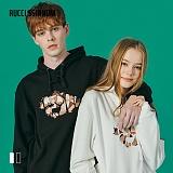 [루찌씬놈]Rucci Ssinnom - 후드티 SHP103 (2color) 자수 풀오버 후드티 후드 스��셔츠
