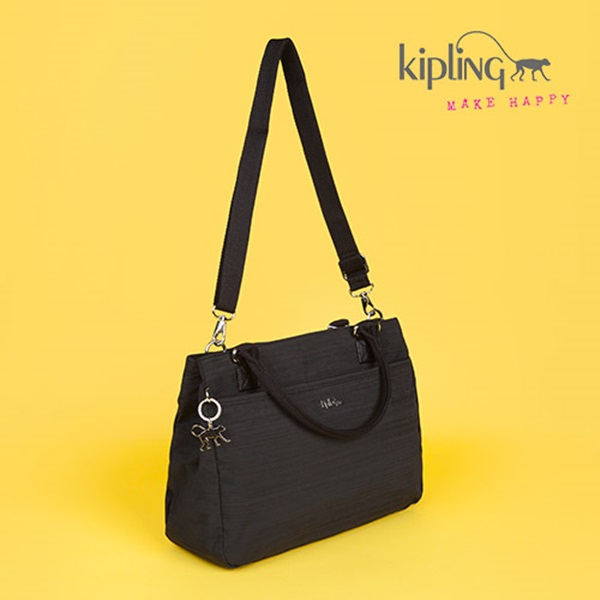 [키플링]KIPLING - CARALISA Medium handbag Dazz Black 핸드백