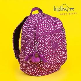 [키플링]KIPLING - CLAS CHALLENGER Medium backpack with padded shoulderstraps Star Swirl 백팩