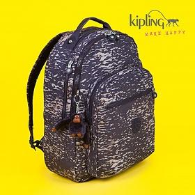 [키플링]KIPLING - CLAS SEOUL Large backpack with laptop protection Water Camo 백팩