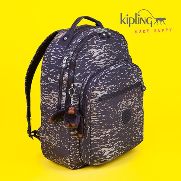 [키플링]KIPLING - CLAS SEOUL Large backpack with laptop protection Water Camo 백팩