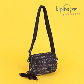 [키플링]KIPLING - MULTIPLE Waistbag convertible to shoulderbag Water Camo 힙색