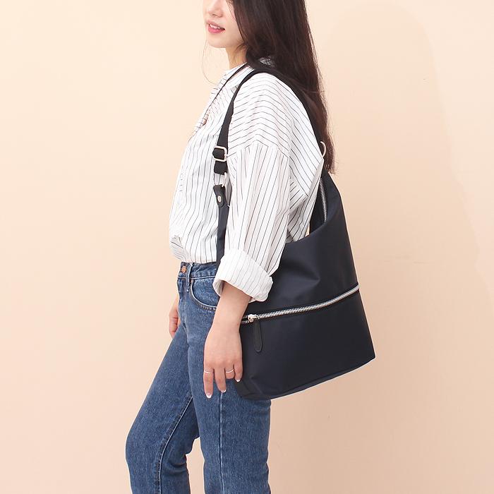 [루버킨] Poy hobo bag - NAVY 숄더백 호보백 여성백