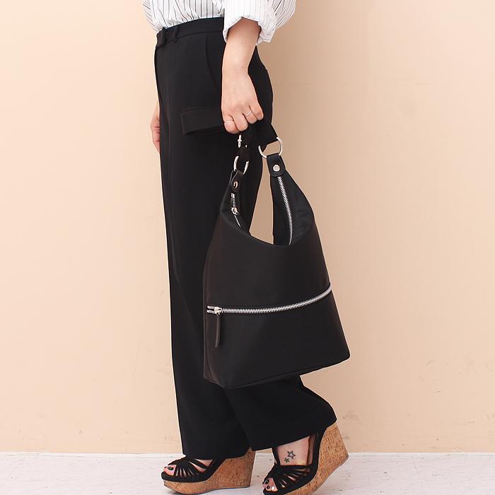 [루버킨] Poy hobo bag - BLACK 숄더백 호보백 여성백