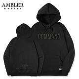 [엠블러]AMBLER 신상 자수 후드티 AHP402-블랙 후디 자수 기모 세미오버핏