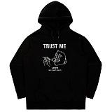 [언더에어] UNDERAIR Trust Me Hoodie - Black 후드 후디