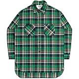 [언더에어] UNDERAIR Santa Maria Shirts - Green 긴팔 체크셔츠 남방