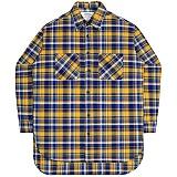 [언더에어] UNDERAIR Santa Maria Shirts - Yellow 긴팔 체크셔츠 남방