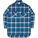[언더에어] UNDERAIR Soul Work Shirts - Blue 긴팔 체크셔츠 남방
