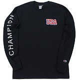 [Champion] 챔피온 USA 긴팔티셔츠 블랙 국내발송