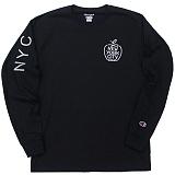 [Champion] 챔피온 NYC 긴팔티셔츠 블랙 국내발송