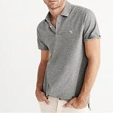 아베크롬비 로고 반팔 카라 티셔츠 0051 015 그레이 Abercrombie 남녀공용 정품 국내배송
