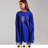 [어커버]ACOVER - NEVER TREASON SWEATSHIRTS 레터링 프린팅 맨투맨 스��셔츠