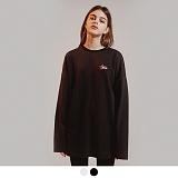 [어커버]ACOVER - HIDE ACOVER SWEATSHIRTS 오버핏 맨투맨 스��셔츠 로고