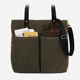 [모노노] MONONO - 6 Pocket 3 Way Bag Wax Canvas Khaki 캔버스 숄더백 토트백