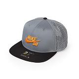 [나이키]NIKE - SB PERF TRUCKER CAP 629243-065 (BLACK/GRAY/ORANGE) 나이키SB 포퍼먼스 트래커 로고 스냅백 모자