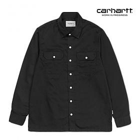 [칼하트WIP] CARHARTT WIP - L/S Master Shirt (Black) 마스터셔츠 긴팔남방