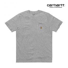 [칼하트WIP] CARHARTT WIP - S/S Pocket T-Shirt (Grey Heath) 포켓 반팔티 포켓티