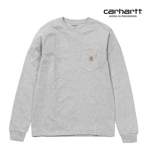 칼하트WIP L/S Pocket T-Shirt (Grey Heath)