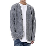[쟈니웨스트] JHONNYWEST - [Lambs Wool] Critical Cardigan (GRAY) 가디건 카디건