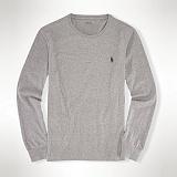 폴로랄프로렌 커스텀핏 긴팔 티셔츠 710566169 005 그레이 POLO 정품 국내배송
