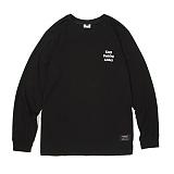 앱놀머씽 - Keep Long Sleeve (Black) 롱슬리브 긴팔티셔츠