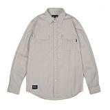 앱놀머씽 - Dobby Work Shirts (Beige) 워크셔츠