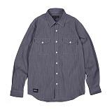 앱놀머씽 - Dobby Work Shirts (Indigo) 워크셔츠