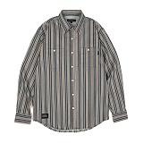 앱놀머씽 - Vertical Stripe Shirts (BlueGreen) 스트라이프 셔츠