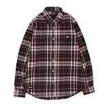 앱놀머씽 - Woolen Check Shirt (Red) 체크셔츠